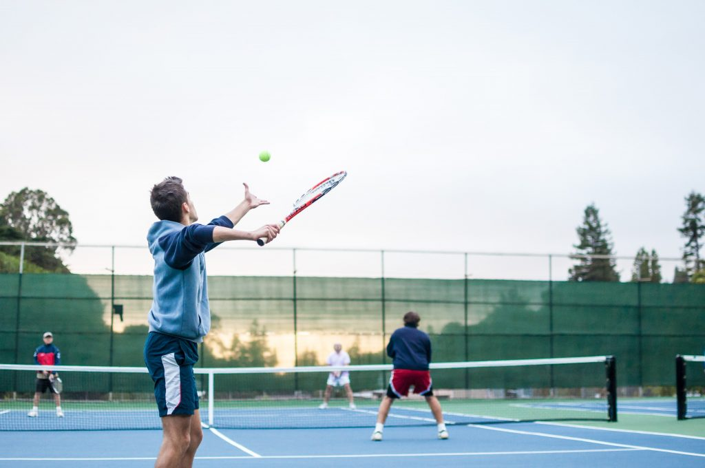 Un match de tennis
